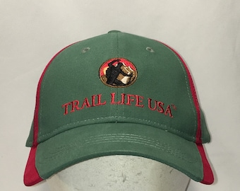00eaaa6fea21f Vintage Trail Life USA Hat Green Red Adjustable Baseball Cap Fishing Hiking  Outdoor Sports Dad Caps Hats Cool Gifts For Men T98 MA9088