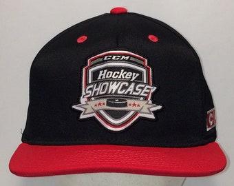 f770a999627 Vintage Hockey Showcase Snapback Hat Black Red Baseball Cap Hats For Men  Winter Sports CCM Caps Snap Back Dad Hat T113 MA8163