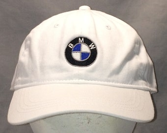 d263cdfc7e3 Vintage BMW Strapback Hat Caps White Baseball Cap Hats For Men Bavarian  Motor Works BMW of Beaumont Car Dealer Dad Hat Ball Caps T72 A8104