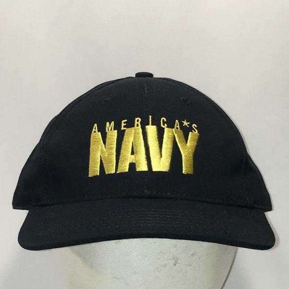 c70aa050303 ... usa vintage americas navy hat blue gold baseball cap military dad etsy  58e9c bc7fe