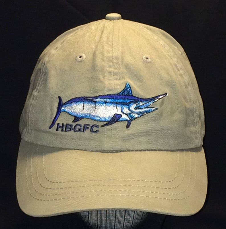 d95d3f5342eaf Vintage Fishing Hat HBGFC Houston Big Game Fishing Club