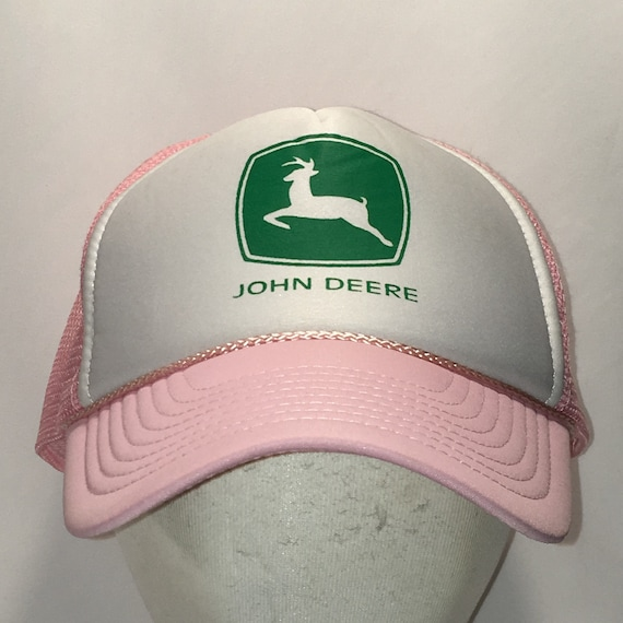 ea84b7a55 Vintage Trucker Hats For Women John Deere Hat Ladies Agriculture Pink White  Green Mesh Back Foam Front Snapback Baseball Caps T67 N8028