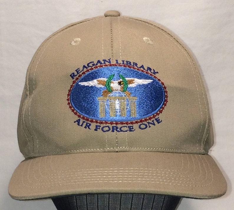f07e3cd4dbe40 Vintage Reagan Library Air Force One Strapback Baseball Cap