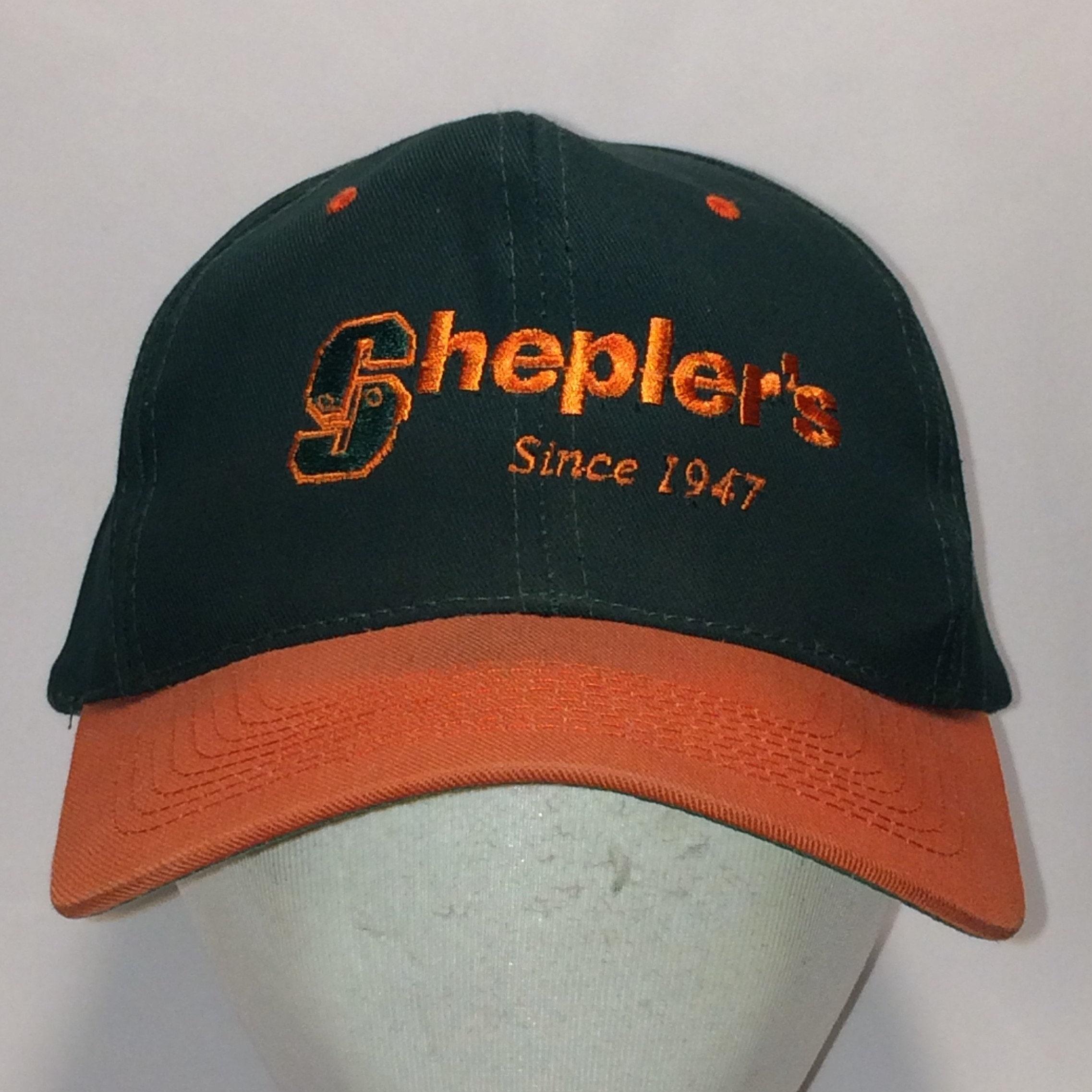 Vintage Snapback Sheplers Hat Green Orange Baseball Cap Hats  c2abf8e8a6d