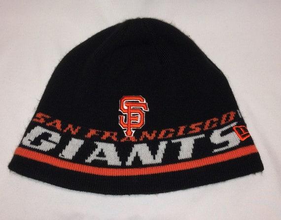 Vintage New Era Hat Cap San Francisco Giants Beanie Winter Hat  f623603b905