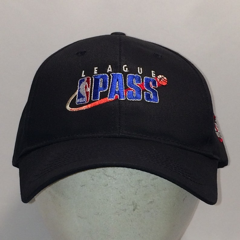 Vintage League Pass NBA Hat Black Blue Basketball Dad Hats For  ff1bf262bd4