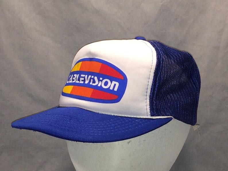 75f8eb1d31a77 Vintage Trucker Hat Caps Cablevision Foam Front Mesh Back