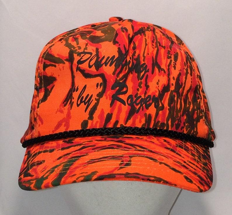 f59cf7ee Vintage Snapback Hat Rope Hunter Orange Hunting Camo Snap Back Hats  Plumbing Roger Cobra Caps Baseball Cap Plumber Gift Dad Hat T109 F8113