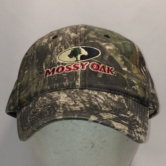 e2c56ee3af94b Vintage Mossy Oak Camo Hunting Hat Outdoor Sports Dad Hats For