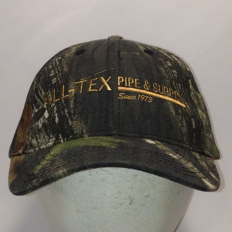 f58f4344 Vintage Hunting Hat Camo Baseball Cap Brown Green Dad Caps Outdoor  Sportsman All Tex Pipe & Supply Rigid Tools Hats Gifts For Him T18 A7015