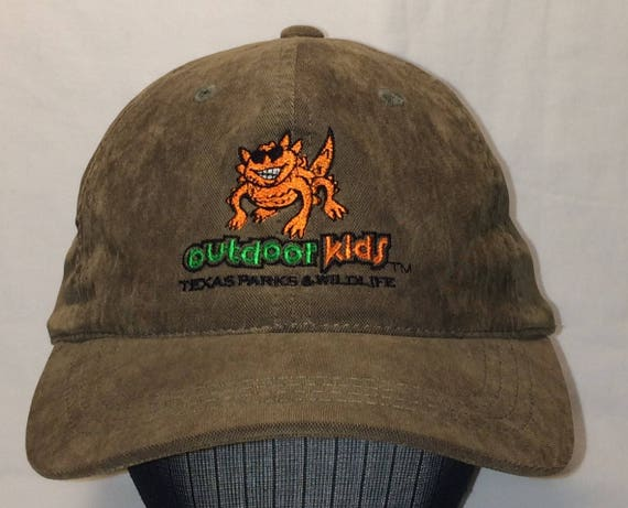 Vintage Texas Parks and Wildlife Outdoor Kids Baseball Cap  97d0179f1009