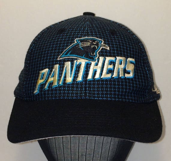 357bdf9f0ad Vintage CAROLINA PANTHERS Football Hat Baseball Cap NFL