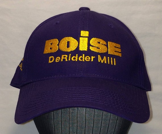76da45eda13 Vintage Baseball Hat Mens Ball Cap Boise DeRidder Mill