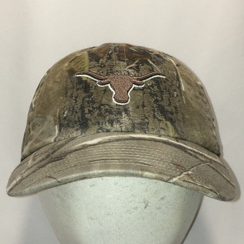 big sale 8b05b 34d21 Vintage Texas Longhorns Baseball Cap Camo Dad Hat Brown Green   Etsy