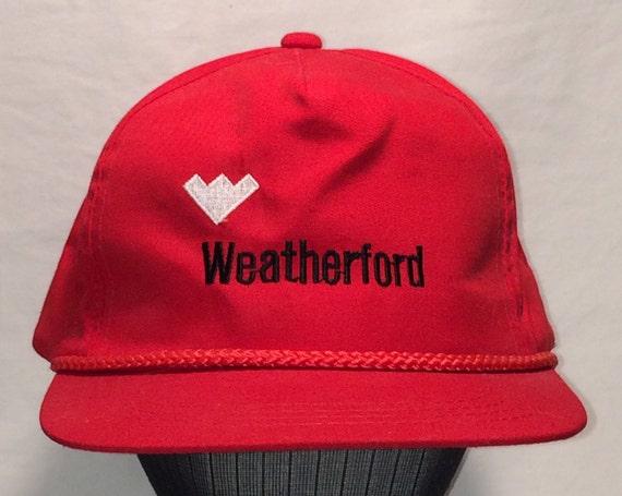 Vintage Weatherford Red Rope Front Snapback Hat Men Baseball  b60d7086944