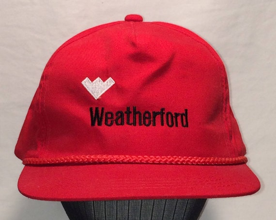 Vintage Weatherford Red Rope Front Snapback Hat Men Baseball  7349ed85ac2