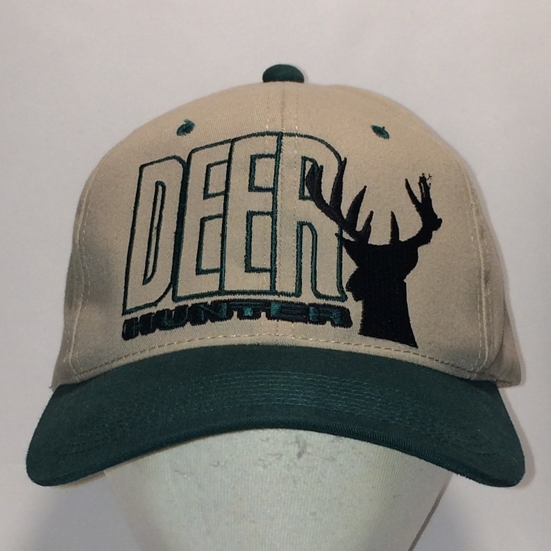 19f049821 Vintage Snapback Hat Beige Green Baseball Cap Deer Head Hunting/Hunters Dad  Hats Outdoor Sports Caps Cool Gifts Guys T14 M7098