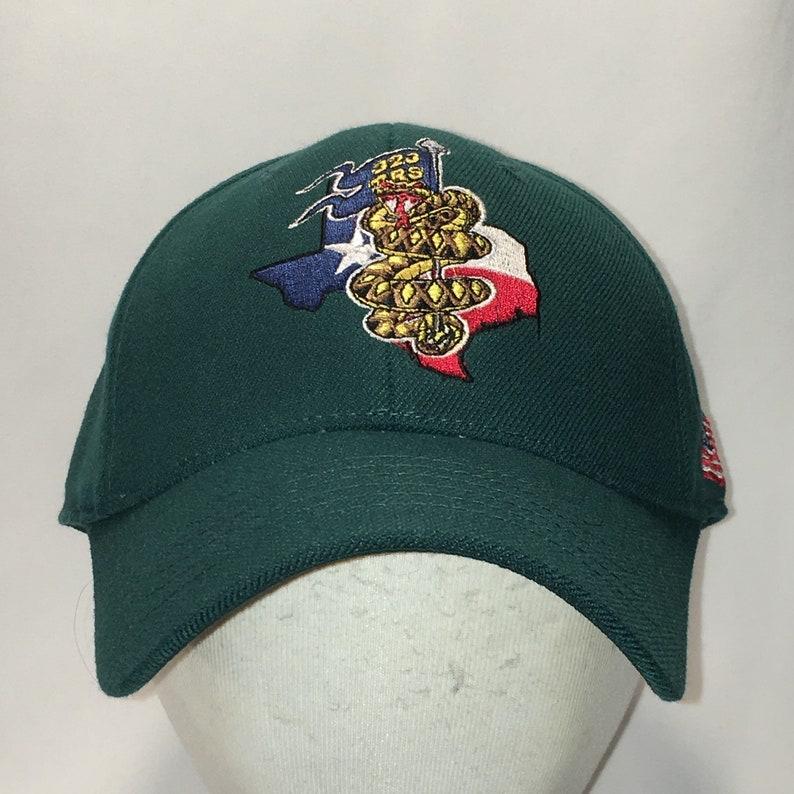 b2e2e8997c63c Vintage Rattlesnake Logo Stretch Fit Hat Green Baseball Cap