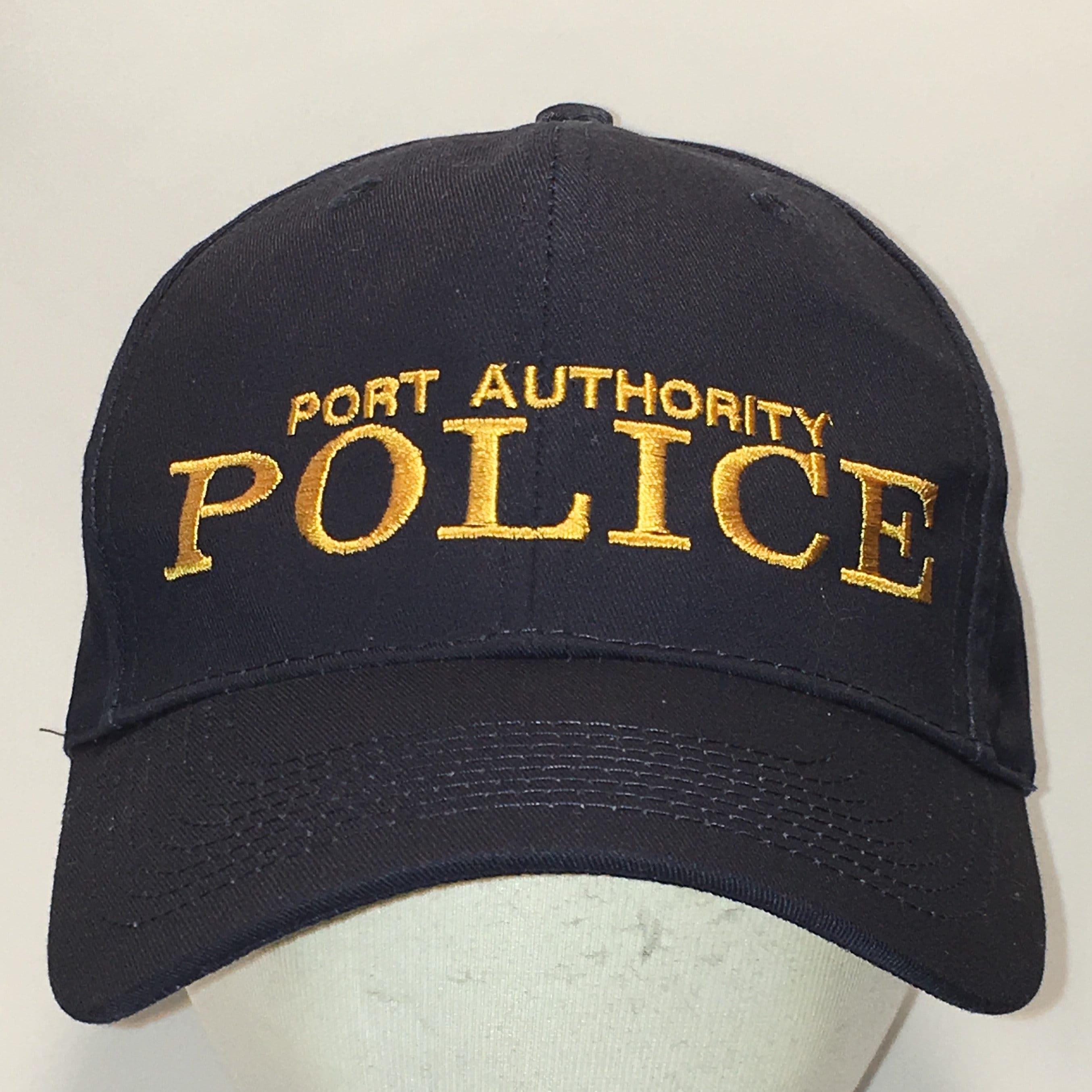 Vintage Port Authority Police NYC Snapback Hat Navy Blue  6fe48e23e48