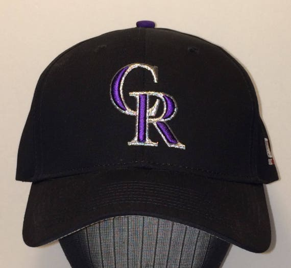 Vintage Baseball Cap Colorado Rockies Hat Men Hats CR Baseball  156e7d54378