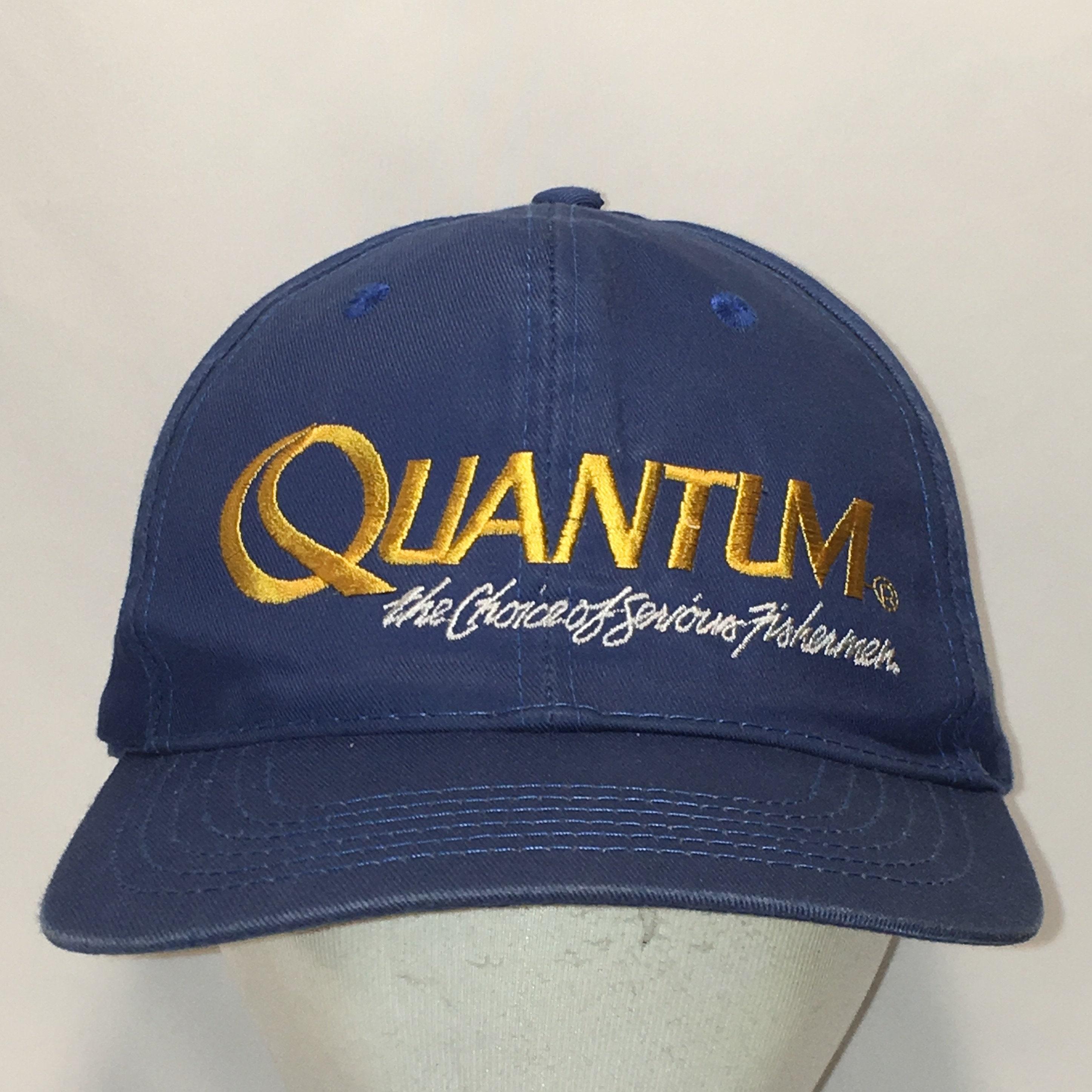 1aab6dfc0e Vintage Quantum Fishing Hat Blue Snapback Hat Men Baseball