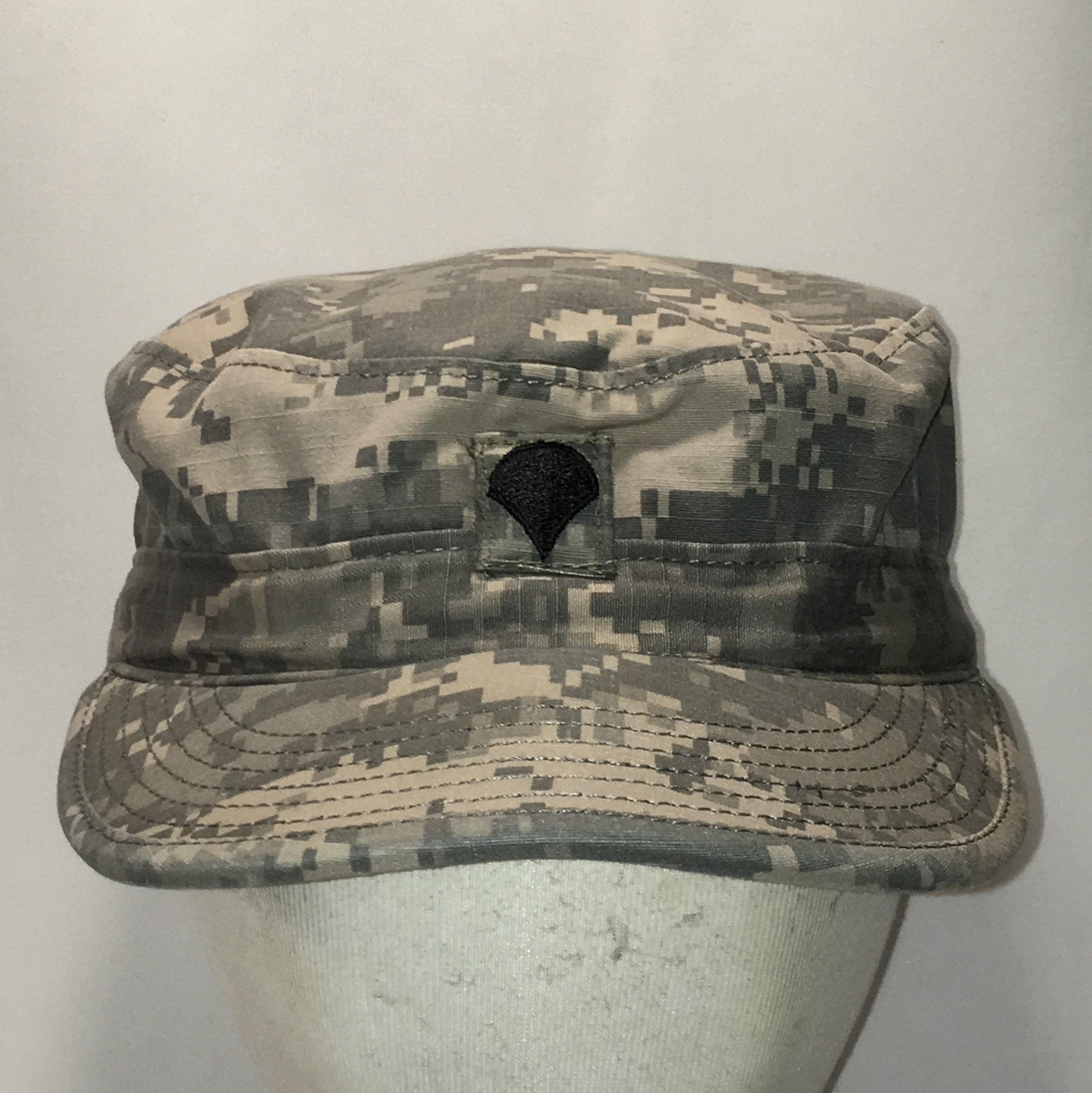 Vintage Military Hat Army BDU Patrol Cap w Hidden Pocket  b984dbcdada