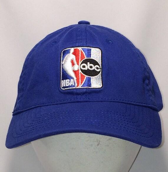 Vintage ABC NBA Basketball Hat A-Flex Stretch Fit S M Blue  fe41925e8a9