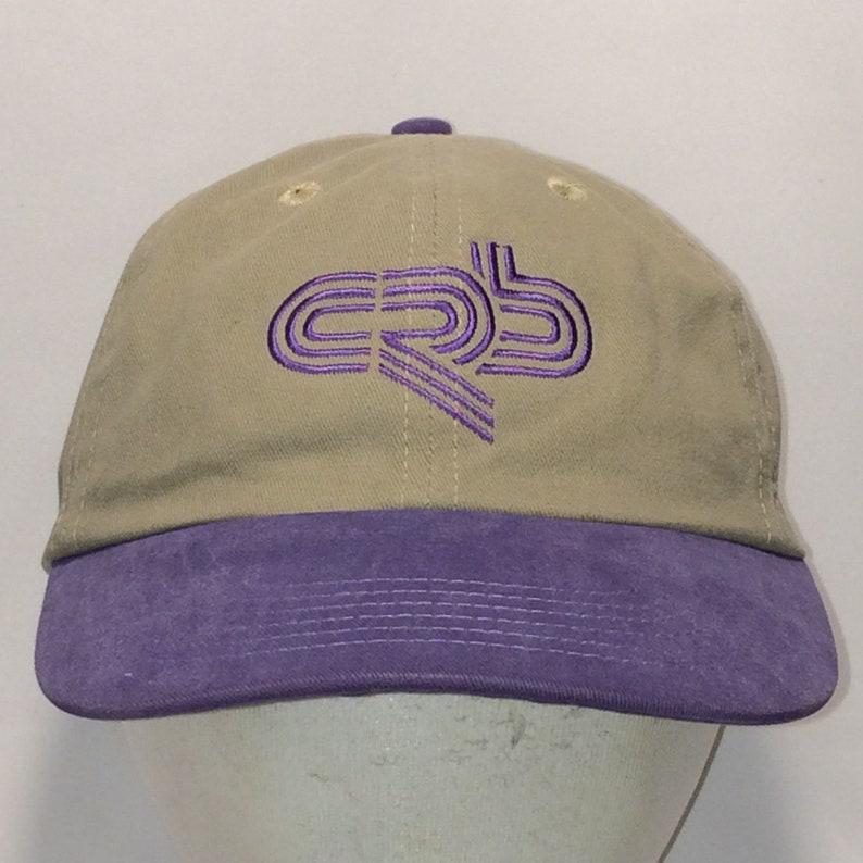 3df98be68 Vintage Strapback Hat CRB Baseball Cap Beige Purple Fishing Hat Mom Caps  For Women T8 N7026