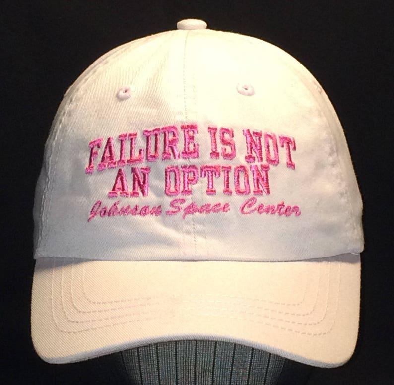 bcd4666f7 Baseball Hat Women Light Pink Strapback Ball Caps For Women Failure Is Not  An Option NASA Johnson Space Center Womens Baseball Cap T47JN7217
