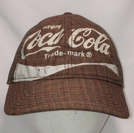 Vintage Hats Coca Cola Hat Coke Bottle Baseball Cap Distressed  927b7c2d262