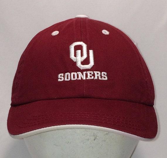 f4f130427 University of Oklahoma Kids Strapback Hat Sooners Baseball Cap NCAA  Football College Hats For Boys Cool Maroon Youth Ball Caps T51 F8213