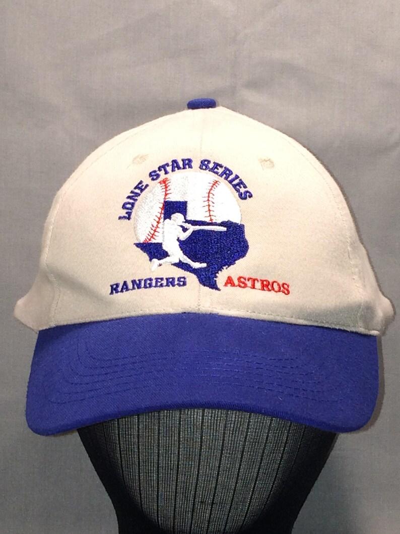 Vintage Baseball Cap Houston Astros Texas Rangers Ball Cap MLB  c13019174be6
