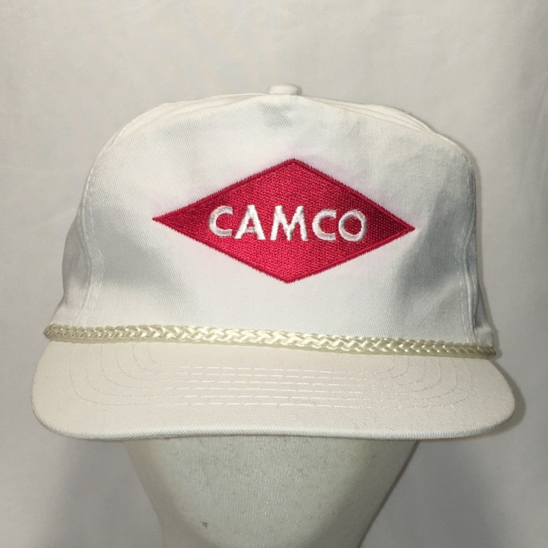 09a2f665f Vintage Hats Camco Rope Front Snapback Hat White Red Baseball Cap Fishing  Outdoor Sports Dad Caps Hats Headgear Gifts For Men T124 A9080