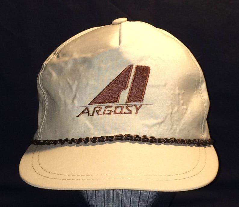 cdefa36255fec Vintage Hat Baseball Cap Leather Strapback Golf Hat Argosy