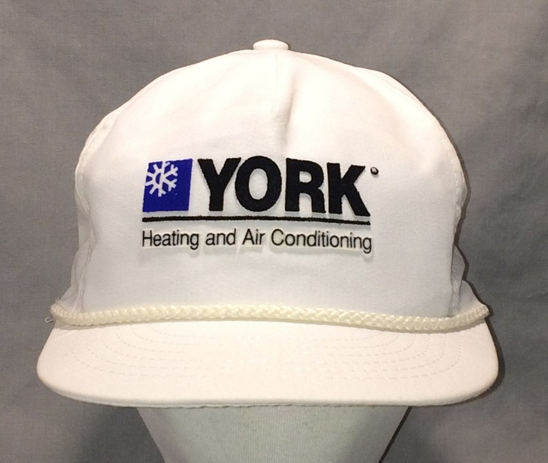 555c0b3fe4d Vintage Snapback Hat York Baseball Cap Commercial Heating and