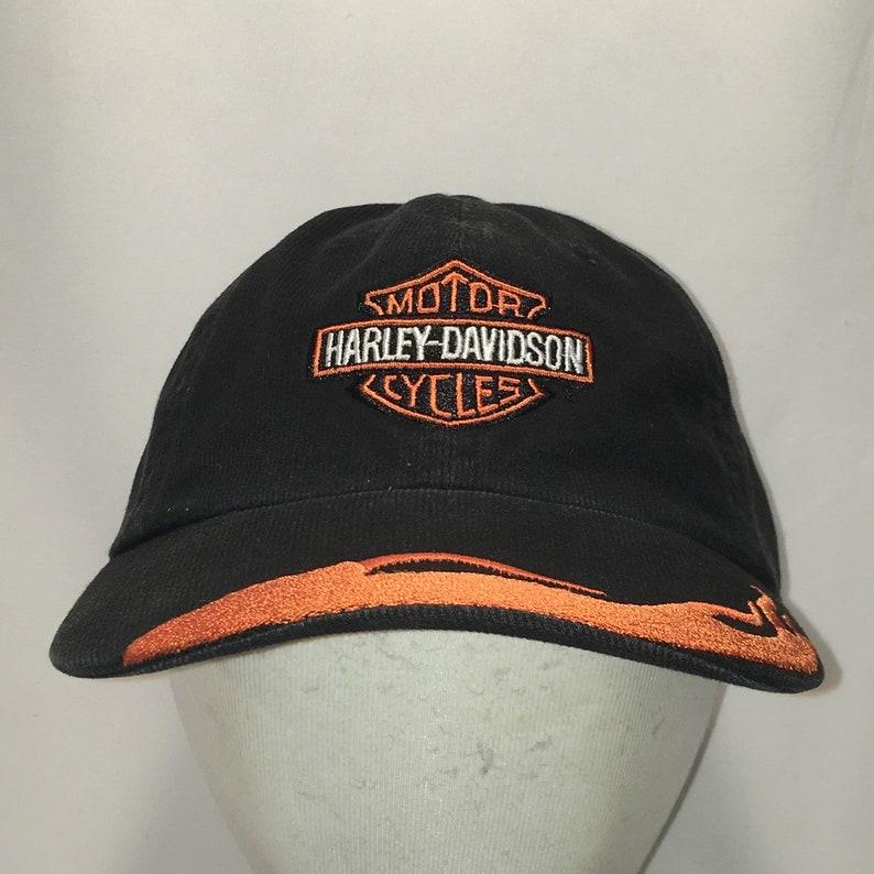 50d2d601f Vintage Harley Davidson Motorcycles Hat Black Orange Baseball Cap Cool  Black Orange Racing Flames Biker Dad Hats For Men Gifts T35 8101
