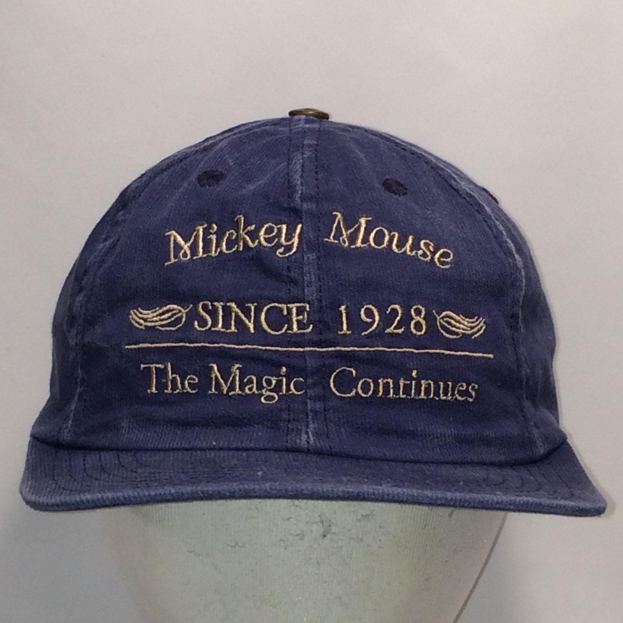 b3cb5bc74363d Vintage Hats Mickey Mouse Strapback Hat Caps Blue Baseball Cap