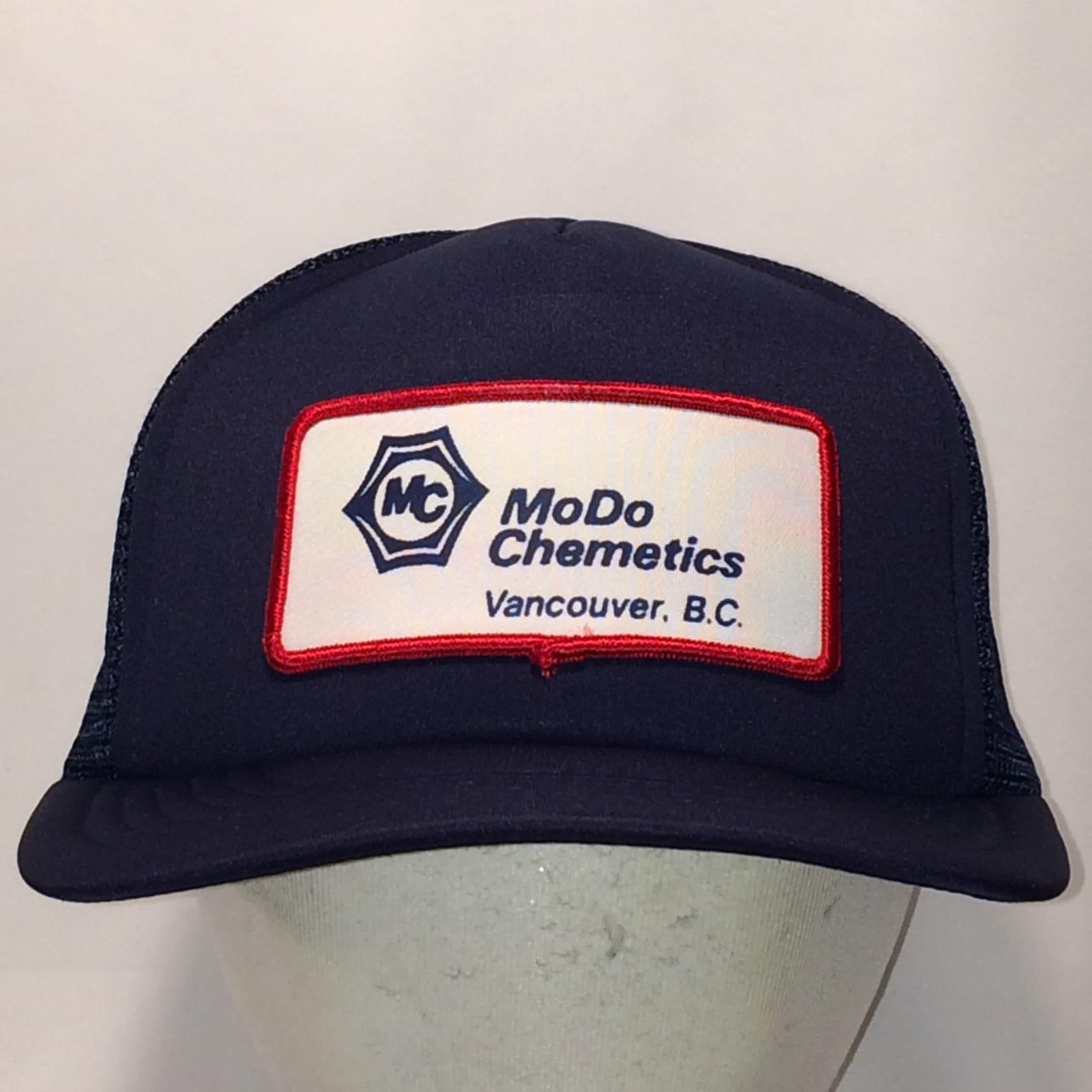 3c30b30889c5e Vintage Hat Trucker Hat Navy Blue Mesh Back Snapback Patch Hat