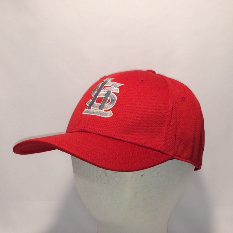 d43aec1aa03ba Vintage St Louis Cardinals Baseball Cap Legends Hat Red Grey