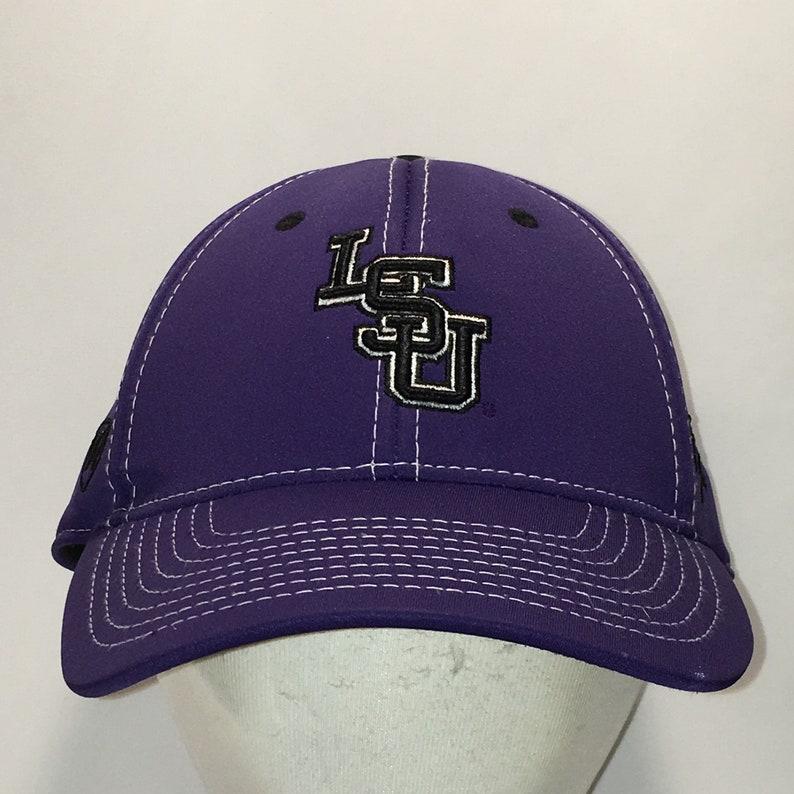 32c9bec1441a8 Vintage LSU Hat Louisiana State University Tigers Stretch Fit