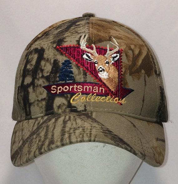 d2867fa9592 Vintage Hunting Snapback Hat Deer Head Camo Hats For Men