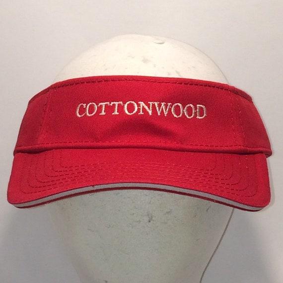 Vintage Sun Visor Hat Caps Red White Golf Visors Hats For Cool  aae0e2a583bc