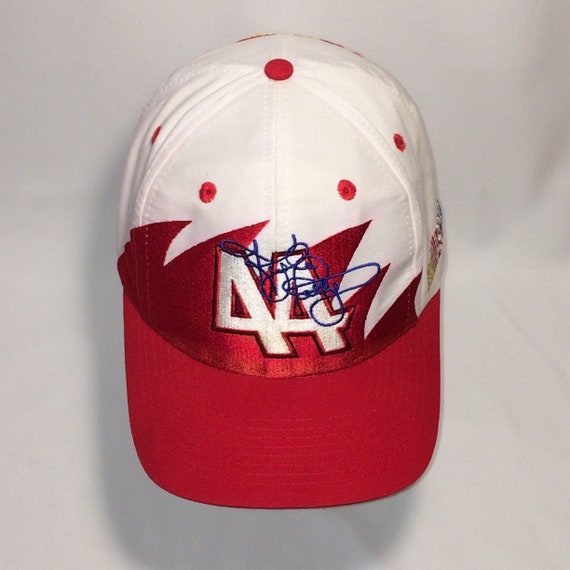 78a7ea5e03d Vintage Kyle Petty NASCAR Snapback Hat Red White Racing Dad