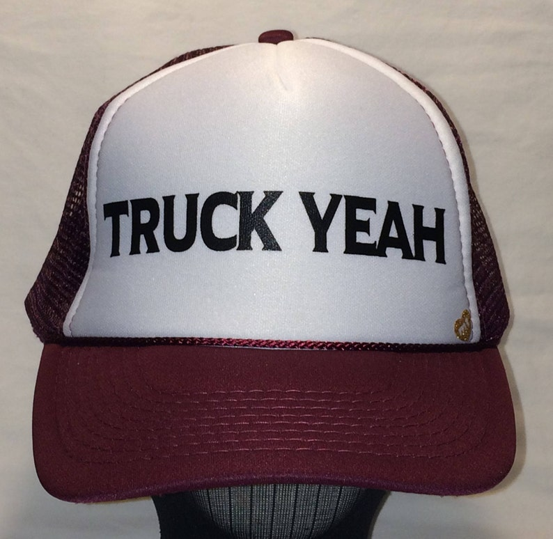 6857199afab Vintage Trucker Hat Mens Rope Front Snapback Hats Maroon and