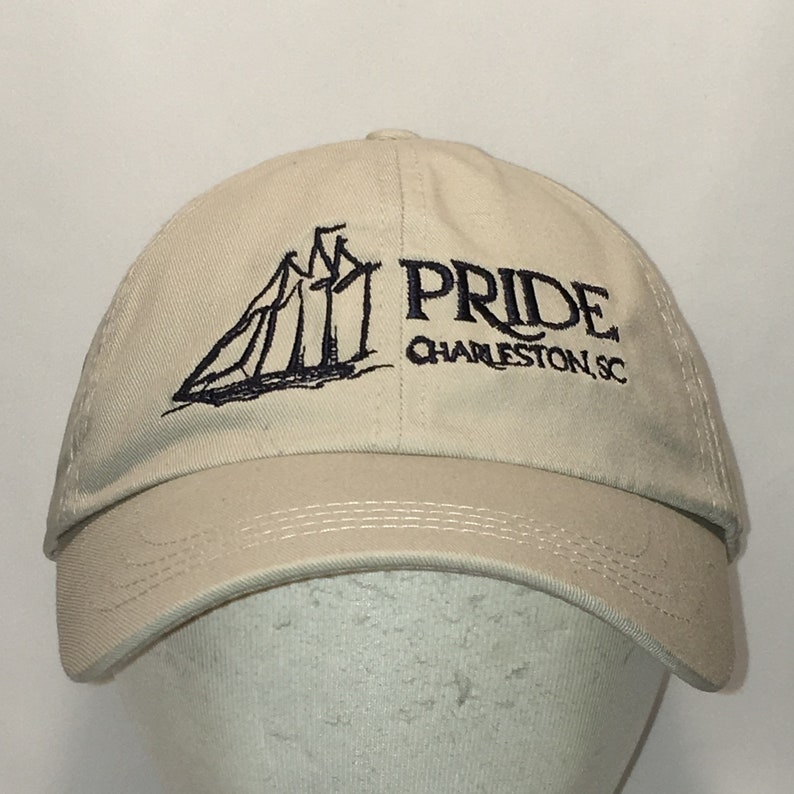 099404714 Vintage Strapback Baseball Cap Pride Charleston SC Dad Hat T35 S8112