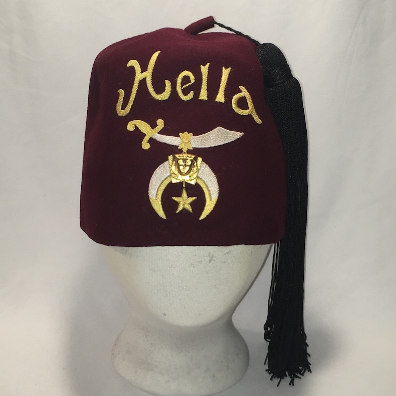 4c3e2137b Vintage Fez Hat Hella Shriners Temple Freemasonry Masonic Uniform Hats with  Tassel Maroon Fitted Hats 7 3/8 Cool Gifts For Men T103 JN9039