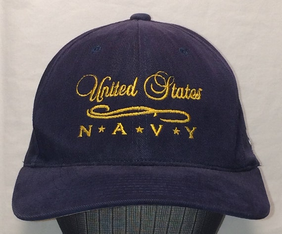 Vintage New Era Snapback Hat United States Navy Baseball Cap  993c7ce5252