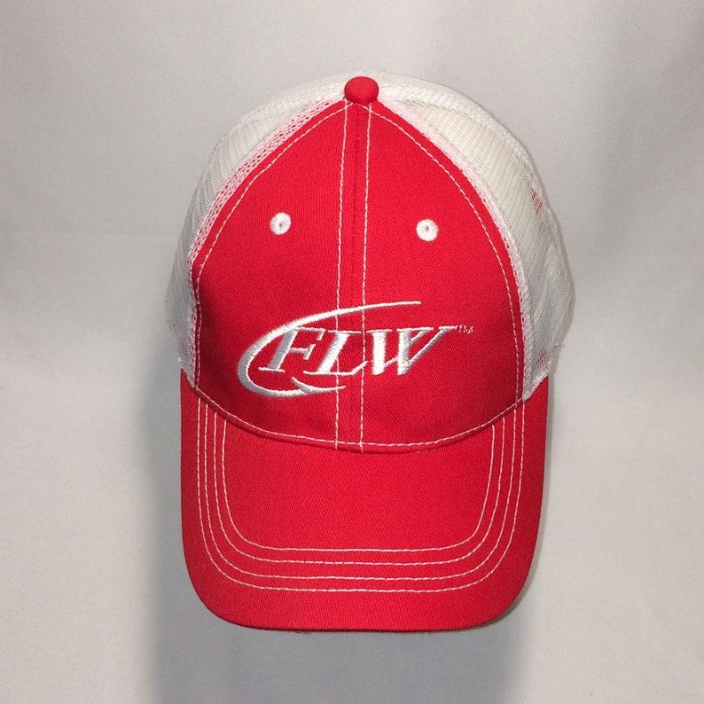 17d44d37599033 Vintage Fishing Hat FLW Fishing League Worldwide Mesh Baseball | Etsy