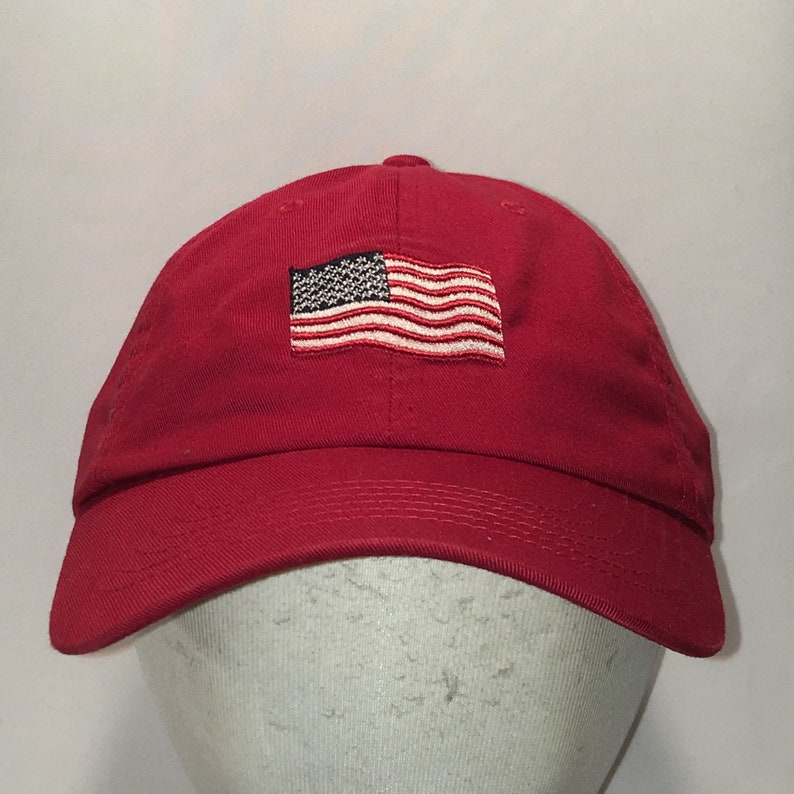 e3bc538dc63 American Flag Hat Red Strapback Baseball Cap Mens Gifts Old