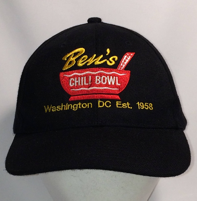 8b8aac7c42cbf Vintage Bens Chili Bowl Restaurant Hat Black Red Baseball Cap